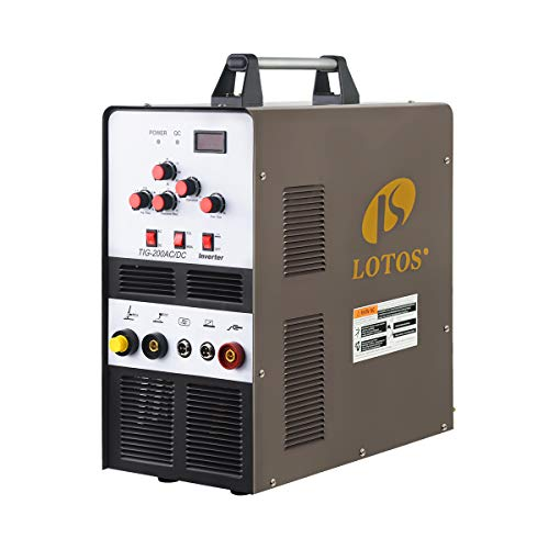 Lotos TIG 200 ACDC 200 A AC/DC Aluminum Tig Welder 110/220 V Dual Voltage Brown