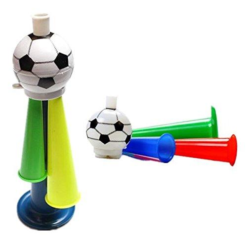 Bazaar 10 Plastic Horn Fans Horn 3 Töne pfeifen Fußball Horn