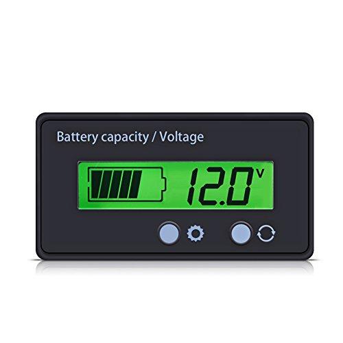 VBESTLIFE Batteria capacità Tester Universale Tester Voltmetro Monitor Batteria al Piombo capacità Tester con Digital Display LCD Retroilluminato Indicatore di Stato della Batteria al Litio