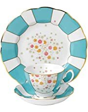 "Royal Albert 3 Piece 100 Years 1900 Teacup, Saucer & Plate Set, 8"", Multicolor"