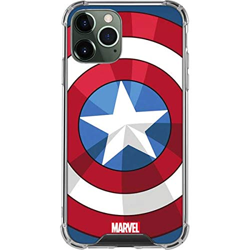 Skinit Clear Phone Case Compatible with iPhone 12 Pro - Officially Licensed Marvel Captain America Emblem Design