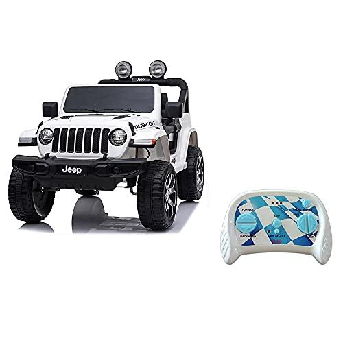 Mazzeo Giocattoli Auto elettrica Jeep Rubicon Bianca