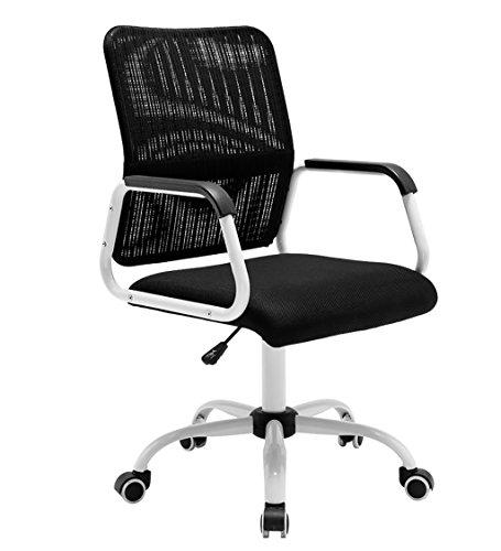 Canyi Z Computer Stuhl Bürostuhl Bürostuhl Multifunktionaler Bund Mesh Stuhl Feste Armlehnen Swivel Lift Konferenzstuhl (Farbe : 1)