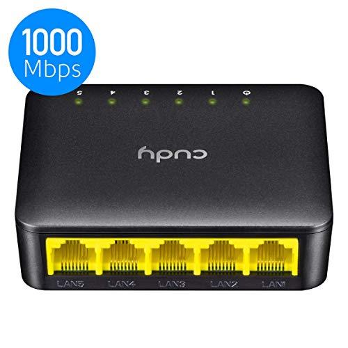 Cudy GS105D 5 Port Gigabit Ethernet Network Switch,Ethernet Splitter - Desktop, Fanless, Traffic Optimization, Plug and Play