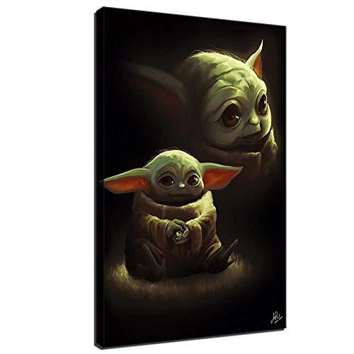 Baby Yoda Hochformat, HD-Bild, Leinwanddruck, Star Wars, Poster, Wandbild, für Wohnzimmer, Schlafzimmer,...