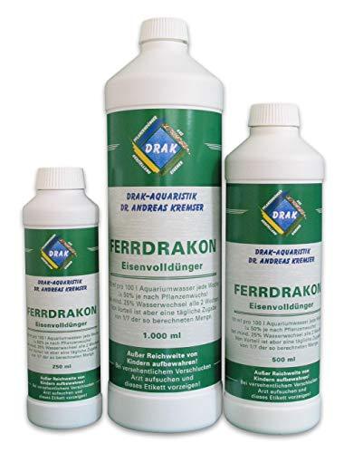 DRAK-Aquaristik Ferrdrakon Eisenvolldünger Ausführung Fertiglösung, Größe 1,0 Liter