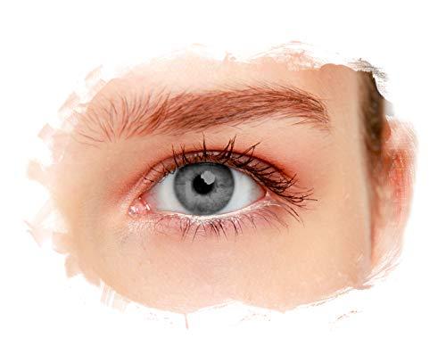 eyelee - Farbige Kontaktlinsen, Grau, Monatslinsen OHNE Stärke, hohe Deckkraft, angenehmes Tragegefühl, natürlicher Look, 2 Stück