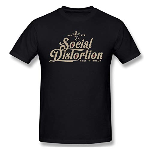 Social Distortion Men's Graphic Cotton Short Sleeve T-Shirt Black Xx-Large
