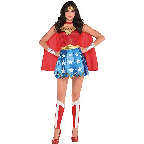 Costumes USA Wonder Woman Halloween Costume for Adults, X-Large (14-16), Includes Dress, Headband, Gauntlets and More