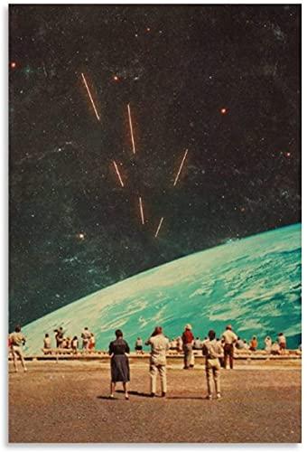 APAZSH Lienzos Decorativos Mirando hacia el Universo Lienzo Pared Arte Cuadros impresión Decoracion Moderna carteles60x90cm x1 Sin Marco
