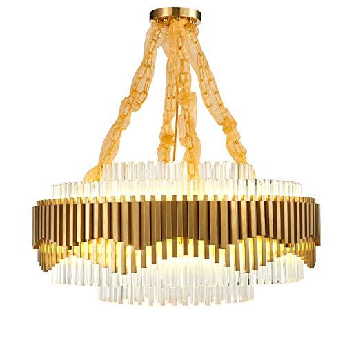 SVHK Living Room Chandelier Postmoderno Creatividad Colgante Luz de Acero Inoxidable Cristal Luz de Techo 39'para hoteles, Bares, Corredores, restaurantes 54 luz