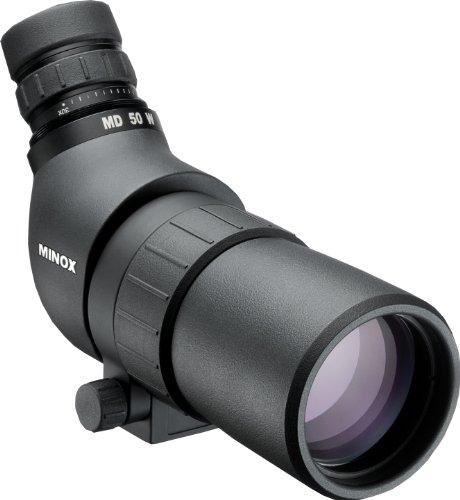 MINOX MD 50 W Spektiv – Kompaktes Spektiv mit Winkeleinblick & 16-30-facher Vergrößerung für Vogel- & Naturbeobachtung – Taschenspektiv inkl. Bereitschaftstasche aus Nylon