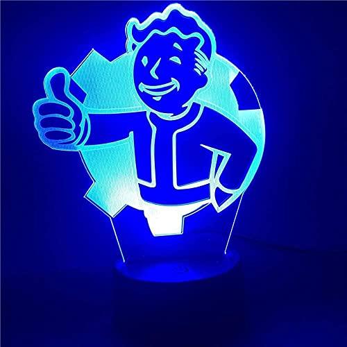 Lámpara de noche ilusión Juego radiación toldo marca regalos perfectos para-7 colores cambiantes