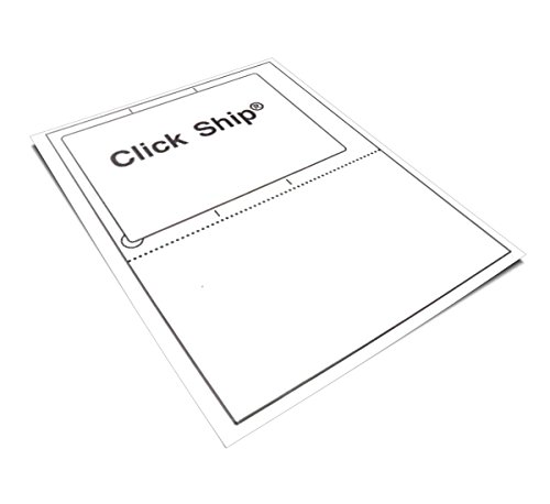 100 Click Ship labels with Tear Off Receipt. Use these if your printing online postage. Trn over the page & print a packing slip. Great value for high quality! Only from Universal Labels!