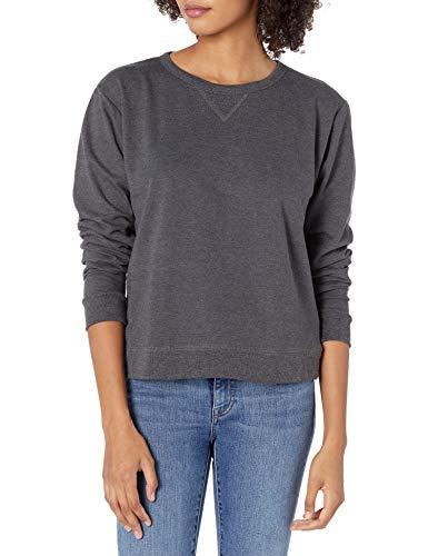 Hanes Women's EcoSmart Crewneck Sweatshirt, Slate Heather, Large