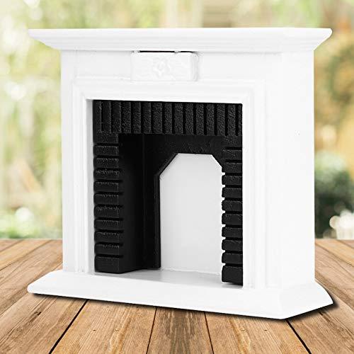 Duokon 1:12 puppenhaus Miniatur möbel Zimmer Mini Holz Kamin für puppenhaus zubehör dekor Handwerk Geschenk Spielzeug