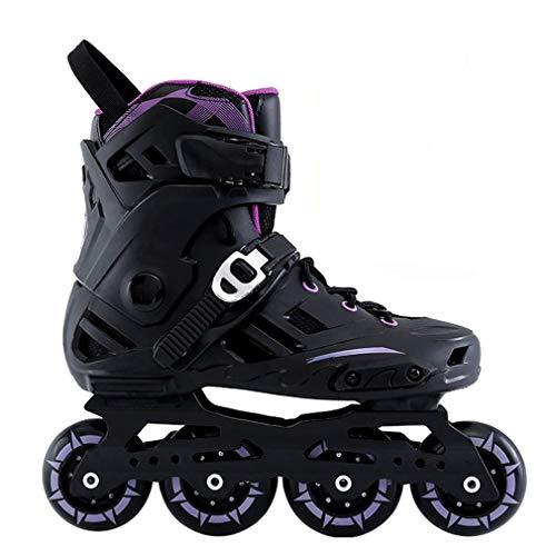 Inline Skates, Rollschuhmädchen Rollschuhklagen Lila Schwarz Weiß Geeignet Für Erwachsene Jugendliche (Color : Purple, Size : 44)