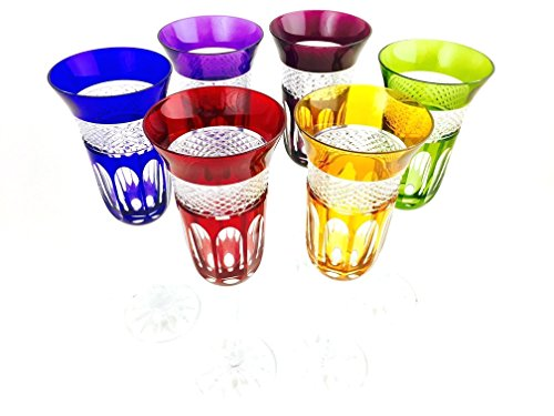 Sektgläser Kristall Hand gemacht, Service 6 Spannuten (20 cl), Roemer Glas, Unterschrieben und gestempelt Klein 54120 Baccarat, Geschenkidee.