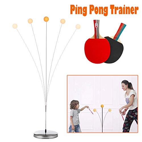 DOBESTS Ping Pong Balls Paddles Set Table Tennis Training Elastic Soft Shaft Equipment Trainer Practice Ball Bulk Children Adult 2 Table Tennis Paddle amp 5 PingPong Balls