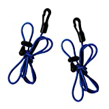 Sharplace (Pack of 2) 120cm/47inch 4mm Adjustable Strong Elastic Canoe Kayak Paddle Leash, Durable Safety...