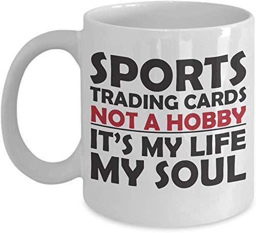 Sport Sammelkarten Becher Liebhaber wie lustige Geschenkidee für Hobby-Süchtige Neuheit Wortspiel Kaffeetasse Lustige Sport-Sammelkarten Geschenk für Sport-Handelsauto