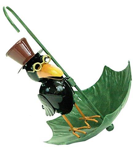 Mix & Match Animal Garden Hanging Metal Umbrella Bird Seed Feeder Outdoor...