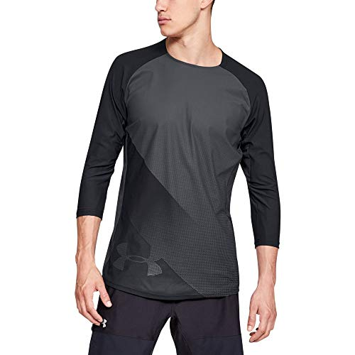 Under Armour Vanish 3/4 T-Shirt Manches Longues Homme, Black/Rhino Gray (001), FR : M (Taille Fabricant : M)