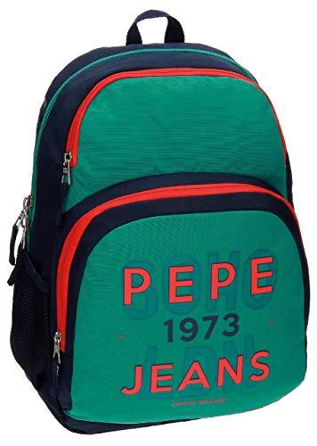 Pepe Jeans 6412451 Reed Mochila Escolar, 23.94 litros, Color Verde
