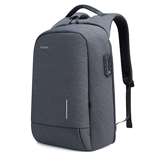 VGOAL Laptop Backpack 17.3 Inch Lightweight Traveling Bag with 2.0 USB Charging Port TSA Lock Anti Theft Business Laptop Rucksack Water Resistant for Women and Men