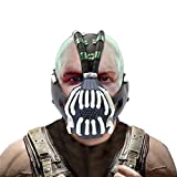 Banes Mask The Dark Knight Rises Cosplay Costume Accessories for Adult Men Halloween Replica Silver