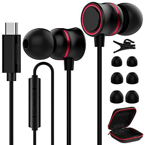 ACOCOBUY Auriculares con Cable USB C para Samsung S21 Auricu