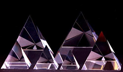 Klare Pyramide aus Regenbogen Kristallglas - Feng Shui Lichtbrecher Heilpyramide - Deko Kristall Glas - Energiepyramide - positive Energie Glaspyramide – Raumharmonisierer - (4 5 6 8 10 12 cm) (Wahl 8cm)