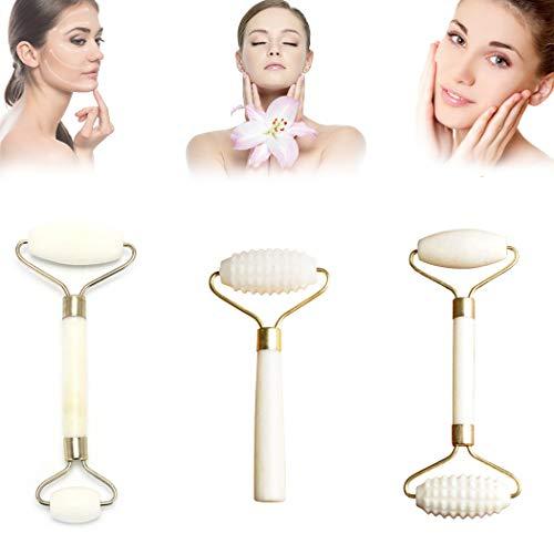 Rullo per massaggi in pietra di giada, strumento dimagrante per il viso, massaggiatore per il viso, rullo di giada anti-invecchiamento, massaggiatore viso