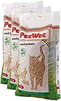 PeeWee Houtkorrels Kattenbak vulling 3x9kg (42L)