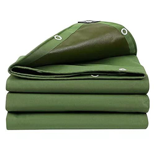 Lonas Cubierta de Lona Resistente, Resistente Al Agua y a Los Rayos UV, para Carpa con Toldo de Lona, Bote, Cubierta de Piscina, Cubierta para Exteriores y Camping, Verde ( Size : 4*4m/13.1*13.1ft )