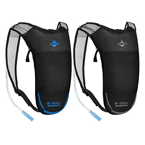 ACVCY Hydration Backpack with 2L Water Bladder, Backpack Reservoirs Water Bladder Daypack for Festivals, Raves, Running, Hiking, Biking (2 Pack)