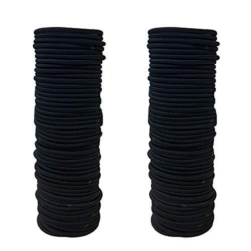 Haargummis, Etercycle 100 Stück Schwarze Elastische Haarbänder Ohne Metall, Elastisch Stirnband Aus Hochwertigem für Frauen, Mädchen