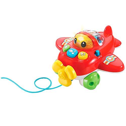 VTech CAPI la avioneta, avión bebé con más de 70 melodías, Canciones y Voces, enseña números y Colores, contribuye al Desarrollo cognitivo y de la motricidad (3480-508822)