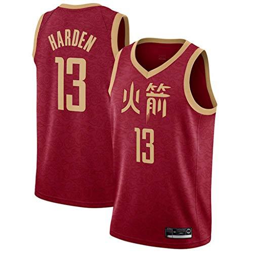 WZ Harden Baloncesto Jersey NBA Houston Rockets 13# Jersey, Jersey Retro Clásico, Bordado De Malla con Capucha, Unisex Ventilador Jersey (Carácter Chino Rockets),M:175cm/65~75kg