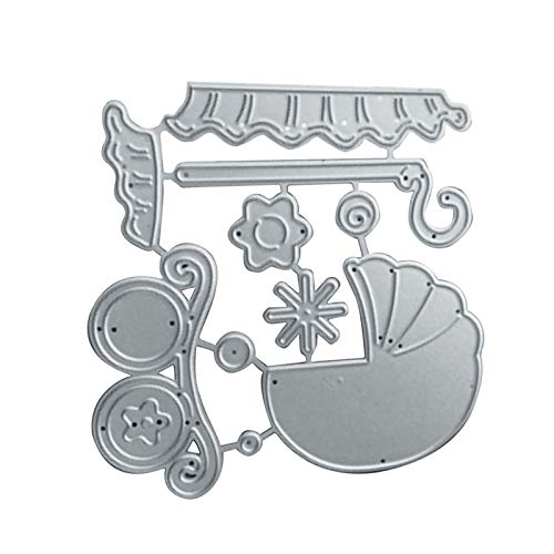 Benoon DIY Schneidwerkzeuge, Metallpräge Schablonen Schneidwerkzeuge, Baby Kinderwagen Kohlenstoffstahl Schneidwerkzeug DIY Karte Handmade Craft Decor Mold Silber
