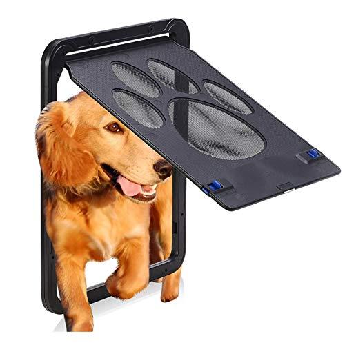 ASY Puerta De Pantalla para Mascotas Pantalla Deslizante para Gatos Puerta para Perros Puerta De Pantalla para Perros con Cierre Automático para Puertas Exteriores para Perros Pequeños Y Medianos