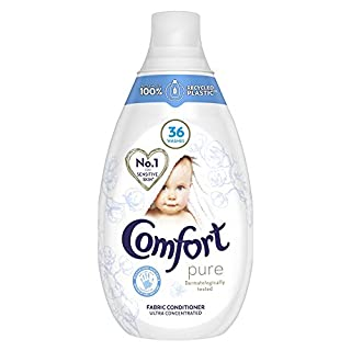 Comfort Ultra Concentrated Pure Hypoallergenic Fabric Conditioner No.1 for Sensitive Skin* 36 Washes, 6 X 540 ml (B07MNZS14Z) | Amazon price tracker / tracking, Amazon price history charts, Amazon price watches, Amazon price drop alerts
