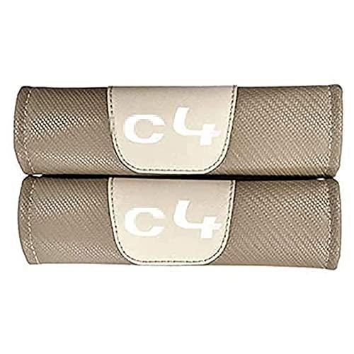 2 Piezas Almohadillas Protectoras Para CinturóN De Seguridad Coche Para Citroen C4, Fibra De Carbono Almohadillas Proteccion Cubiertas Hombro Correa Antideslizante Accesorios Interiores