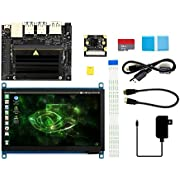 Waveshare NVIDIA Jetson Nano Developer Kit Package C with 7inch IPS Capacitive Touch Display IMX219-77 Camera Board TF Card Runs Multiple Neural Networks a Quad-core 64-bit ARM CPU