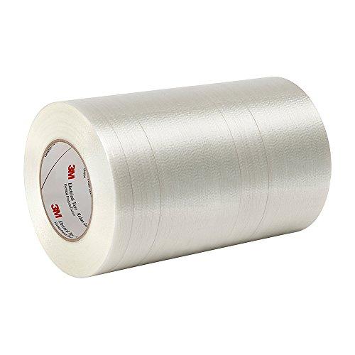 Tapecase 113915,2cm X 54,9m film Polyester Transparent/verre Filament renforcé 3m ruban adhésif électricien 1139, 311degrés F Performance Température, 0cm d'épaisseur, 54,9m Longueur, 15,2cm Largeur