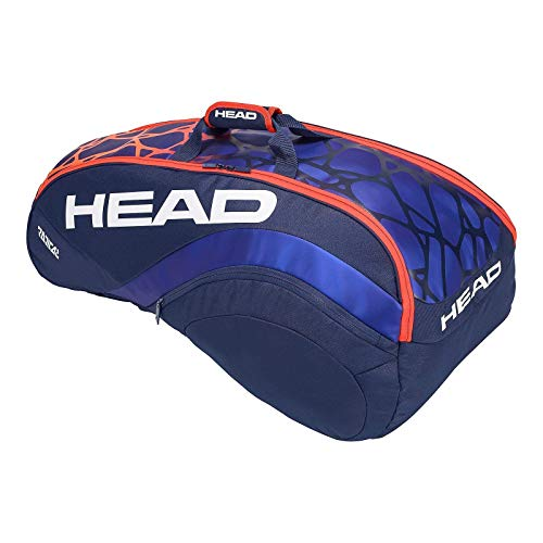 Head 283358 - Borsa per 9 racchette Radical Supercombi, colore: Blu, Arancione