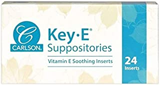 Carlson Labs Key E Suppositories 24 Inserts