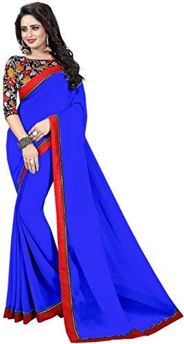 Indian bollywood wedding saree indisch Ethnic hochzeit sari new kleid damen casual tuch birthday crop top mädchen georgette women plain traditional party wear readymade Kostüm