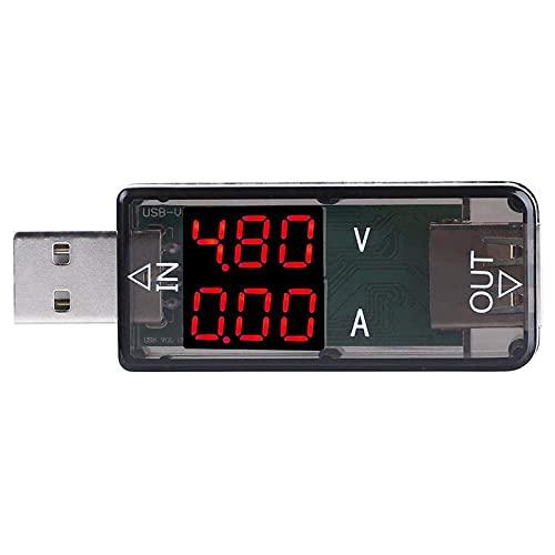 Oferta de Akozon USB Multímetro Amperimetro Voltimetro QC2.0 QC3.0 Tester Voltaje de Corriente USB Probador de Cargador Color LCD Voltímetro Amperímetro(Negro)