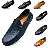 todaysunny Penny Loafers Men Shoes Slip On Moccasins Driving Shoes Boat Shoes Walking
